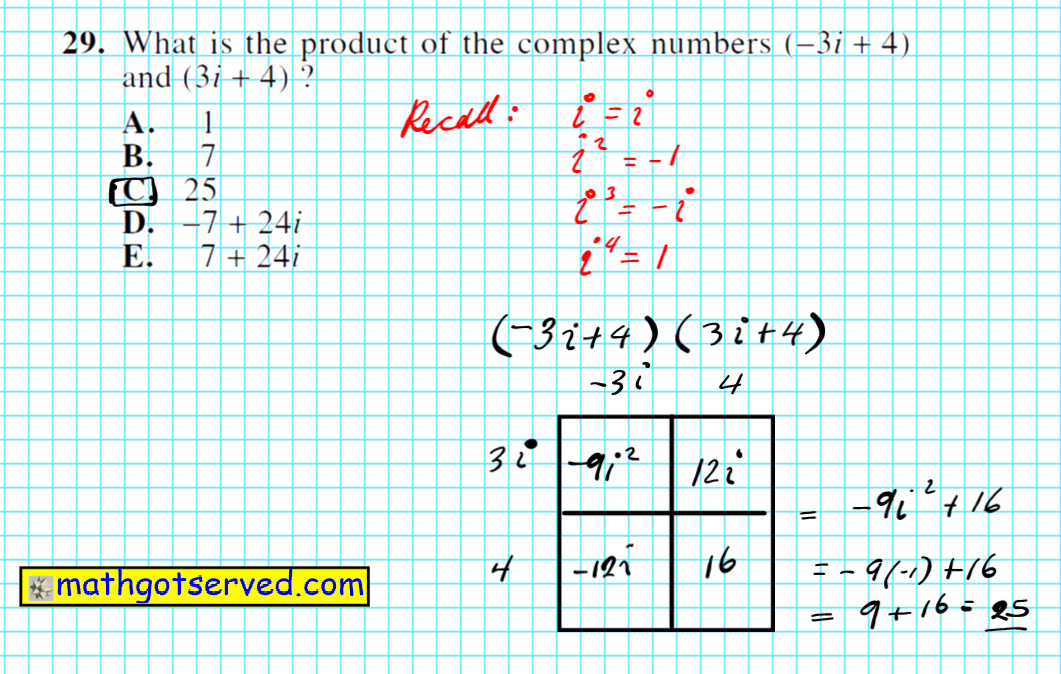 How to compute product sum difference quotient of complex numbers