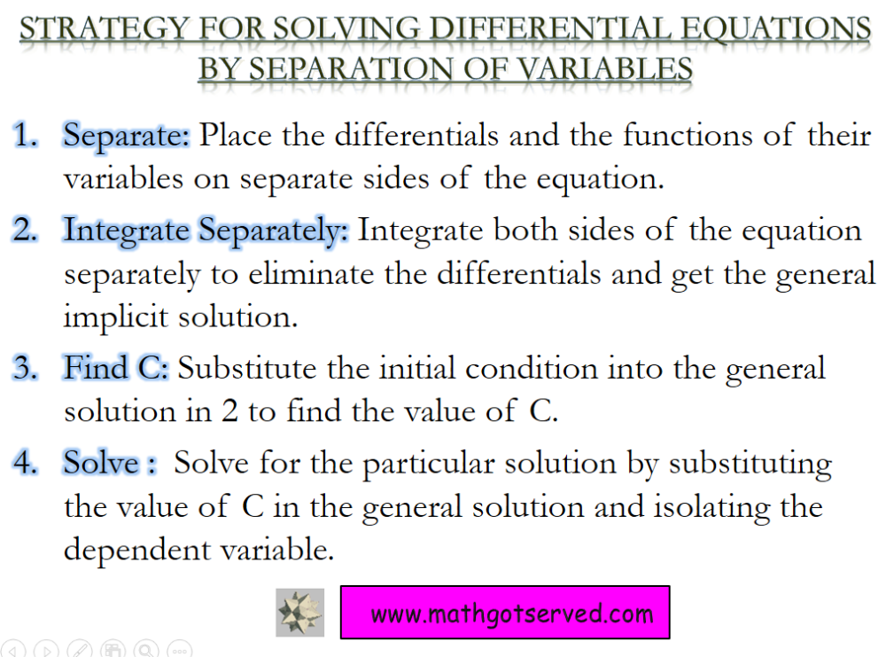 Unit 6: Differential Equations