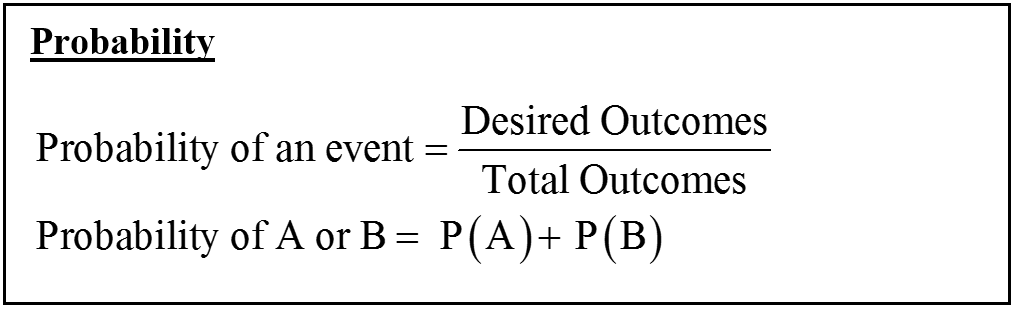 CBEST Probability Formula success outcomes possible Outcomes
